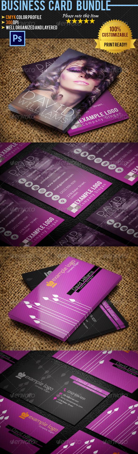 GraphicRiver Fashion Business Card Bundle 4719230