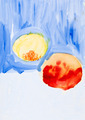 child's painting - two peaches - PhotoDune Item for Sale