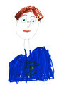 child's drawing - man in glasses - PhotoDune Item for Sale