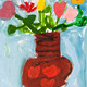 child&amp;#x27;s paiting - flowers in ceramic vase - PhotoDune Item for Sale