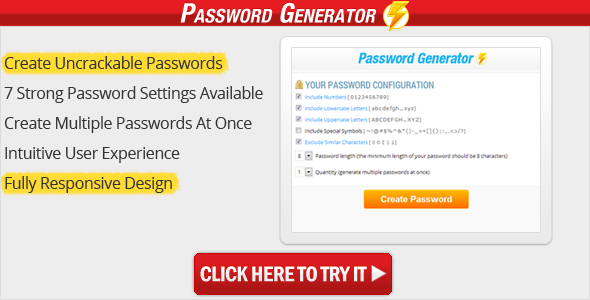 Password Generator - CodeCanyon Item for Sale