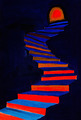 red and blue steps - PhotoDune Item for Sale