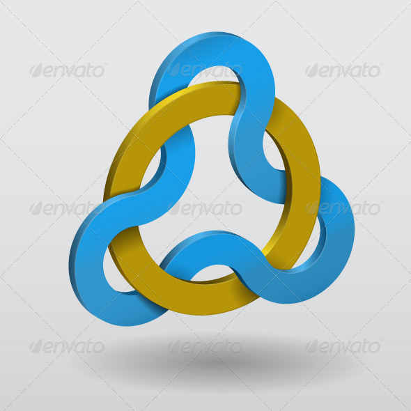 GraphicRiver Abstract Illustration of Circular Triquetra Knot 4719580