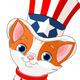 Fourth of July Kitten - GraphicRiver Item for Sale