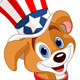  Fourth of July Puppy - GraphicRiver Item for Sale