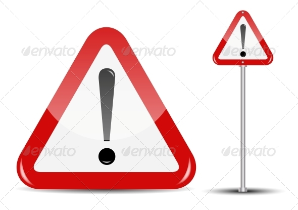 GraphicRiver Vector Blank Traffic Sign Isolated on White 4720367