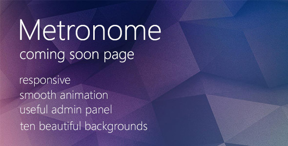 Metronome - Coming Soon Page