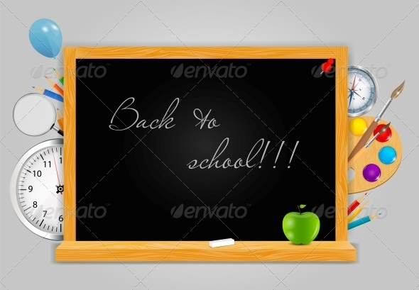 GraphicRiver Back to School Vector Background 4720454