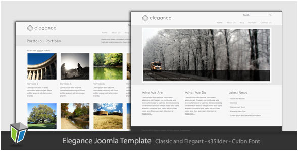 Elegance - Simple and Elegant Joomla Template