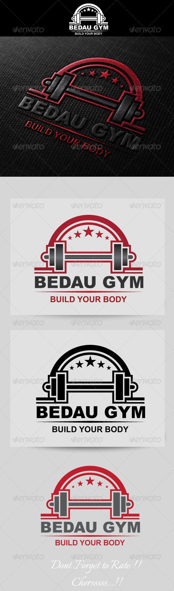 GraphicRiver Fitness Gym Logo Template 4686999