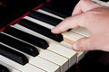 Piano keyboard made of ivory with hands - PhotoDune Item for Sale