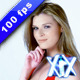 Young Woman Flirting and Waving - VideoHive Item for Sale