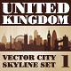 Vector City Skyline. United Kingdom. Set Number 1 - GraphicRiver Item for Sale