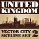 Vector City Skyline. United Kingdom. Set Number 2 - GraphicRiver Item for Sale