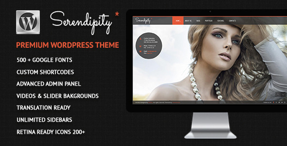 ThemeForest Serendipity Fullscreen Photography WP Theme 4702525