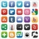Social Set Squared Icons - GraphicRiver Item for Sale