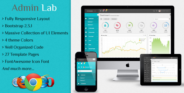ThemeForest Admin Lab Responsive Admin Dashboard Template 4701827