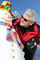 Senior man with a snowman - PhotoDune Item for Sale