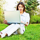 woman with laptop in park - PhotoDune Item for Sale