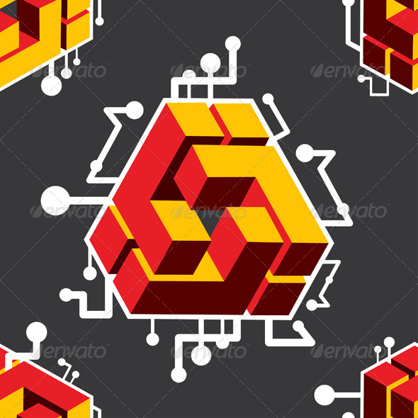 GraphicRiver Cube Pattern 4723308