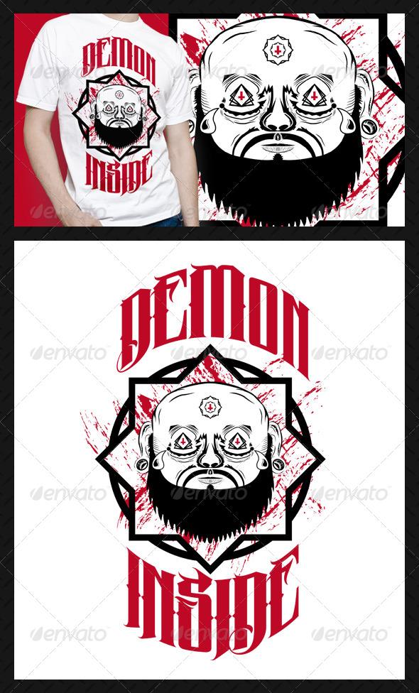 GraphicRiver Demon Inside T-Shirt Design 4723376