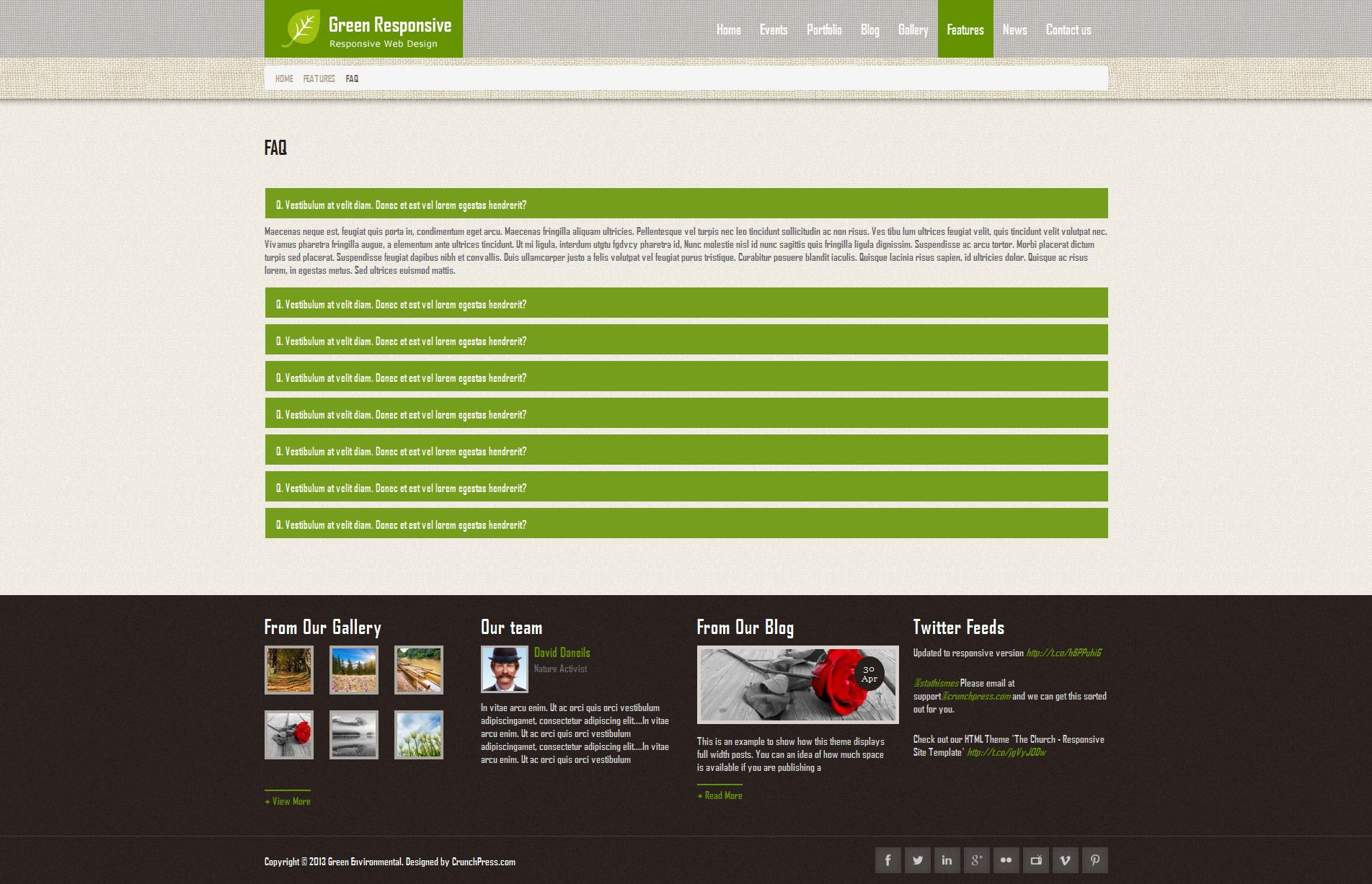 Green Responsive WordPress Theme