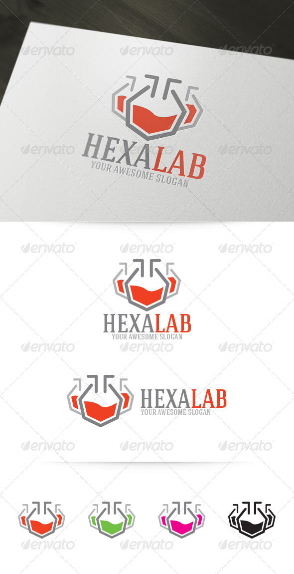 GraphicRiver Hexa Lab Logo 4725070