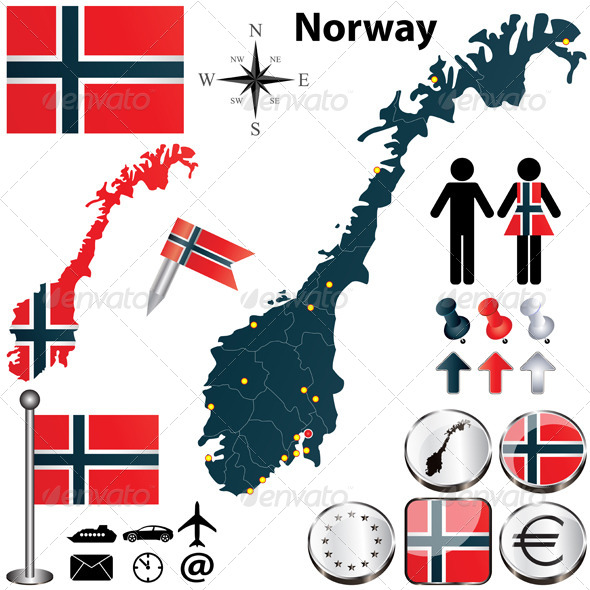 GraphicRiver Map of Norway 4725480