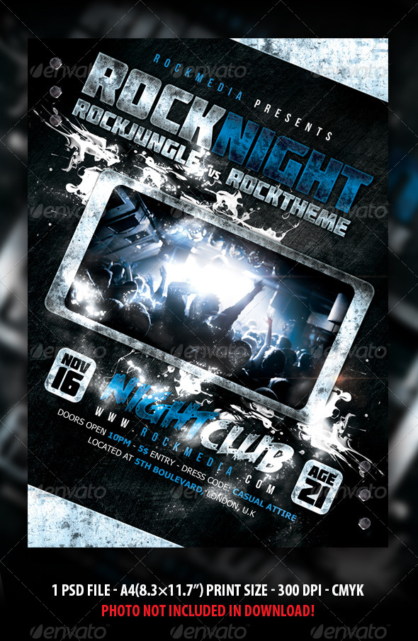 GraphicRiver Rock Concert Party Festival Flyer Poster 4645471