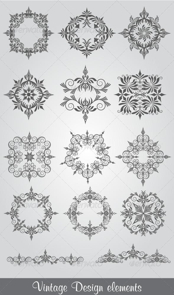 GraphicRiver Vintage Design Elements 4725776