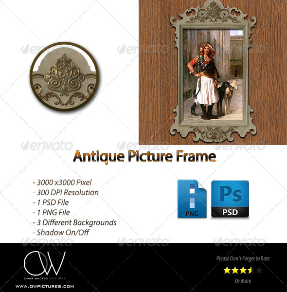 Antique Picture Frame - Photo Templates Graphics
