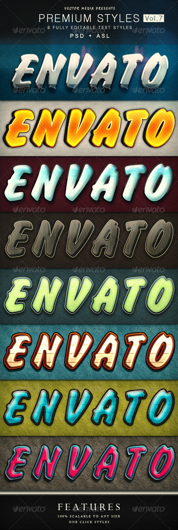 GraphicRiver Premium Text Styles Vol.7 4726236