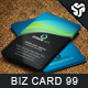 Business Card Design 99 - GraphicRiver Item for Sale