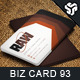 Business Card Design 93 - GraphicRiver Item for Sale
