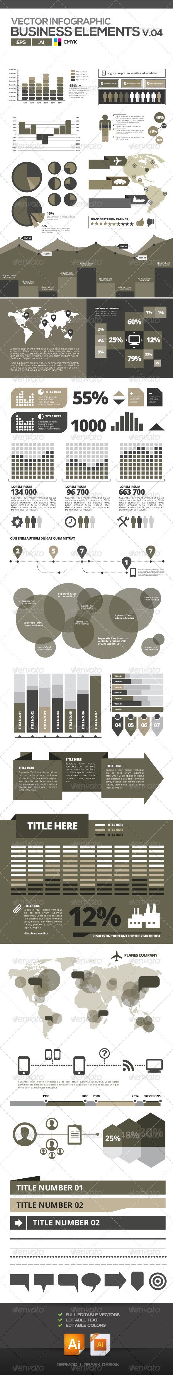 Business Graphics Vectors V.04 - Infographics