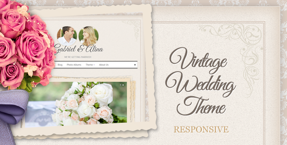 ThemeForest Vintage Wedding Theme 4511456