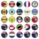 American Flags Soft Round Buttons - GraphicRiver Item for Sale