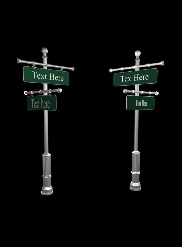 3DOcean Street post sign 4727908
