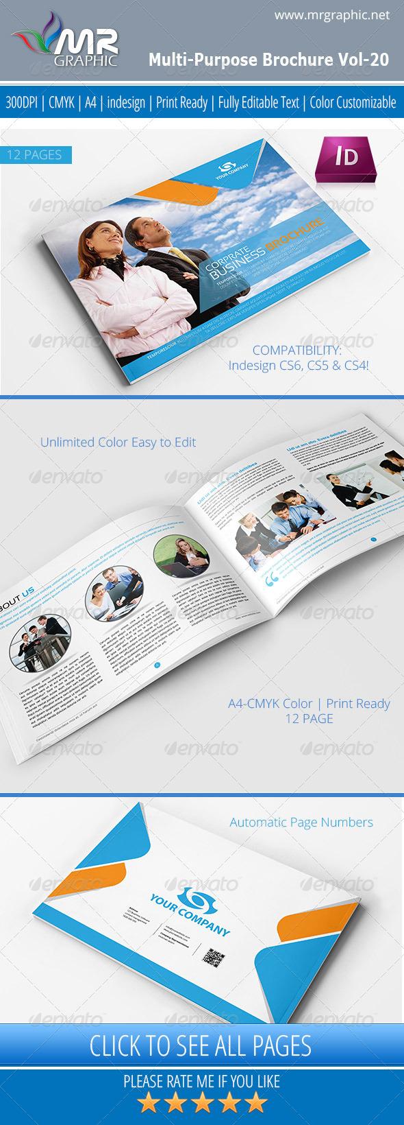 GraphicRiver Multipurpose Business Brochure Template Vol-20 4655088
