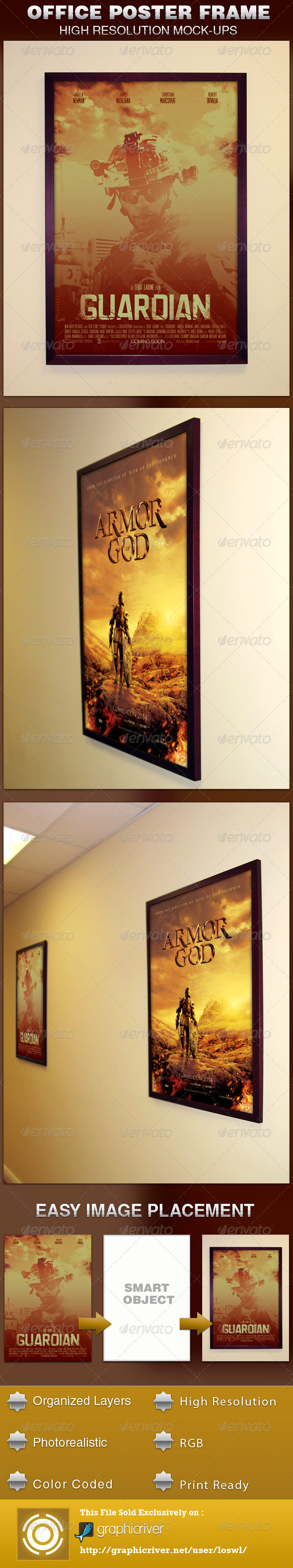 GraphicRiver Office Frame Poster Mockup Template 4728180