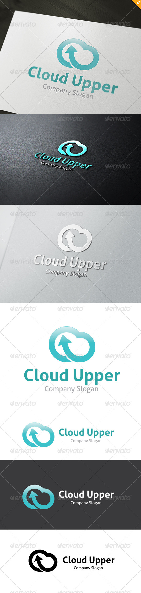 GraphicRiver Cloud Upper Logo 4704057