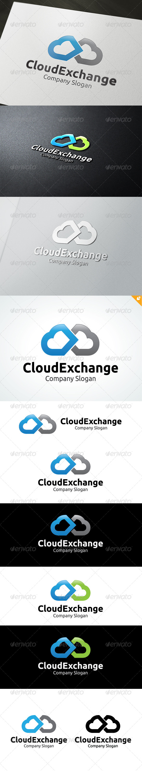 GraphicRiver Cloud Exchange Logo 4698709
