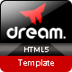 Dream Html5 One Page Responsive Template - ThemeForest Item for Sale