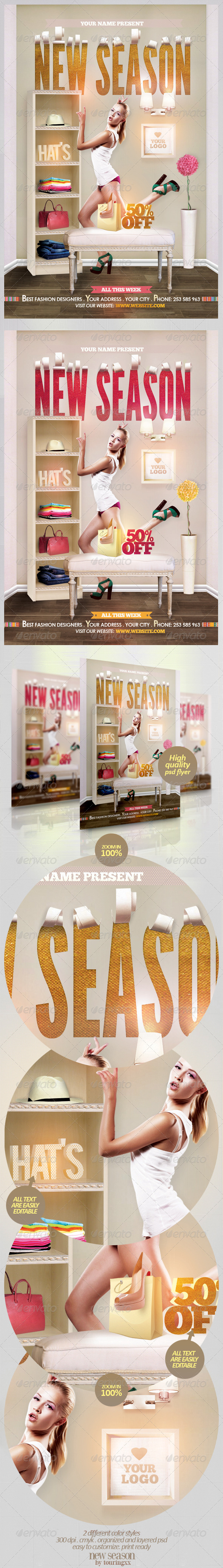 GraphicRiver New Season Flyer Template 4652747