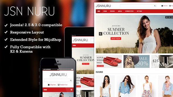 ThemeForest JSN Nuru Responsive Joomla E-commerce Template 4728820