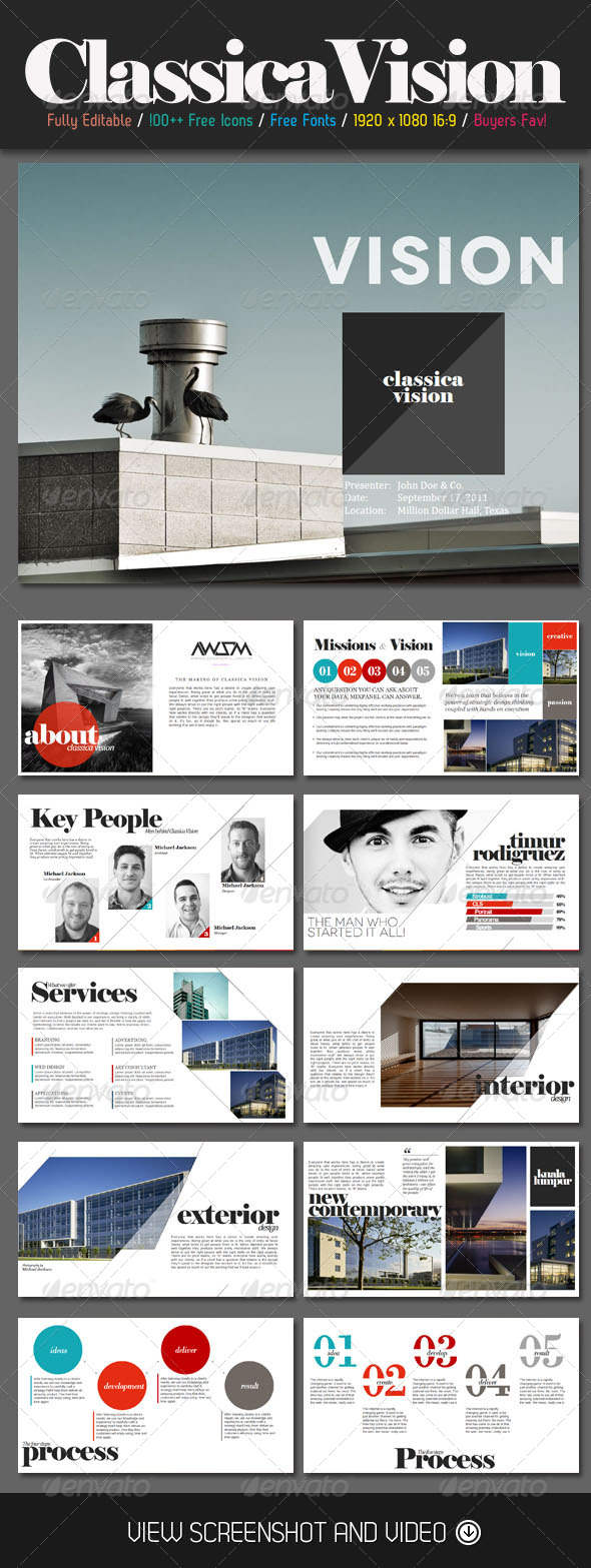 GraphicRiver Classica Vision PowerPoint Template 4728914