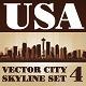 Vector City Skyline USA Set Number 4 - GraphicRiver Item for Sale