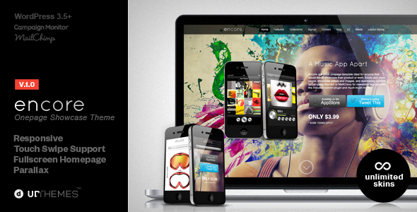 ThemeForest Encore Responsive Product Showcase WordPress Theme 4706533