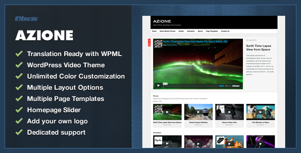 Azione - WordPress Video Blogging Theme - Creative WordPress