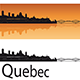 Quebec Skyline in Orange Background - GraphicRiver Item for Sale